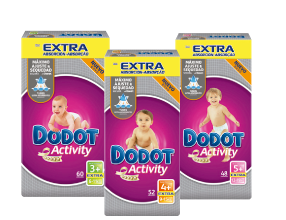 Pañales Dodot Activity Extra T3, T4 y T5 o Dodot Sensitive T2