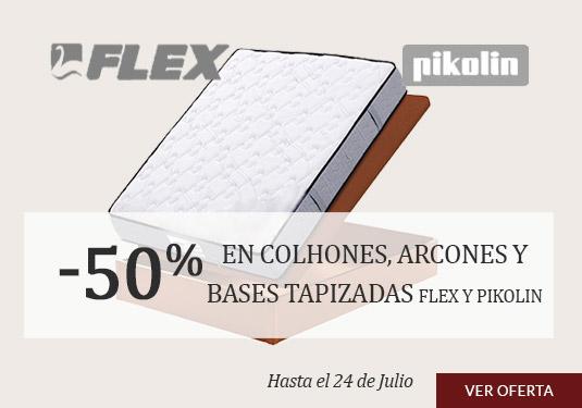 Oferta en Colchones y Bases: Los Colchones, Arcones y Bases tapizadas de PIKOLIN Y FLEX con el 50% de descuento