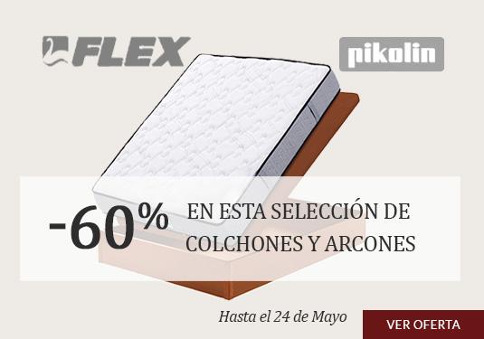 Oferta en Colchones y Bases PIKOLIN y FLEX selección de Colchones y Bases con el 60% de descuento