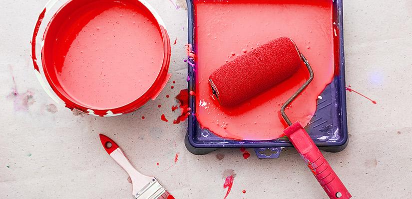 Cómo cuidar o mantener la pintura sobrante y material usado