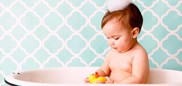 primer baño bebé