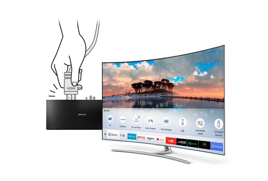 b tech samsung 65 inch 4k uhd smart curved qled tv qa65q8cams. Black Bedroom Furniture Sets. Home Design Ideas