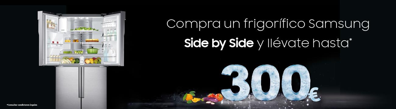 Llévate hasta 300€ al comprar un frigorífico SBS