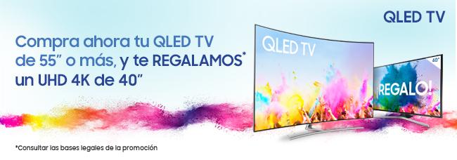 Compra un QLED TV de 55 y llévate de regalo un UHD 4K de 40