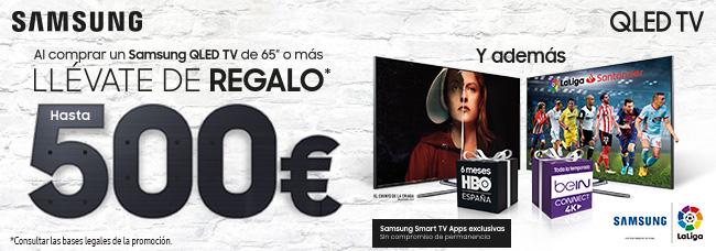 Llévate 500€ de regalo al comprar un Samsung Qled TV de 65