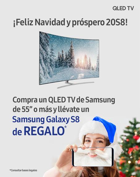 Compra un QLED TV de 55 y llévate de regalo u Galaxy S8