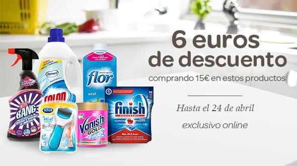 6€ dto en tu compra comprando 15€ en estos productos Exclusivo online