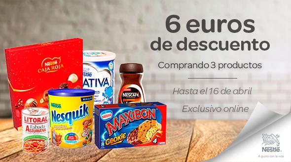 6 euros de descuento en productos Nestlé