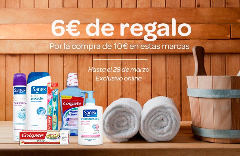 6€ de regalo por la compra de 10€ en estas marcas