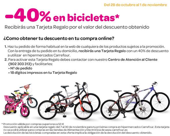 Descuento de 40% en bicicletas de carrefour hasta el 1 de noviembre 40_bicicletas_v2