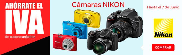 Sin IVA en todas las camaras Nikon