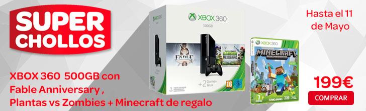 Xbox360 con tres juegos