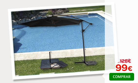 Conjunto kit base parasol lateral giratorio negro - Piscinas gre carrefour ...