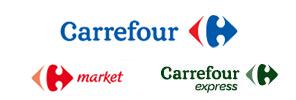 Logotipos de las distintas tiendas Carrefour