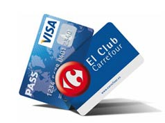 Tarjetas Pass Visa y El Club Carrefour
