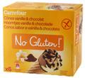 Conos sabor a vainilla&chocolate Carrefour No Gluten! x6