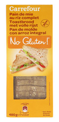 Pan de molde con arroz integral SIN GLUTEN 480gr