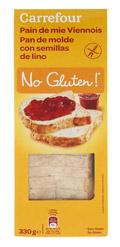 Pan de molde con semillas de lino SIN GLUTEN 330gr