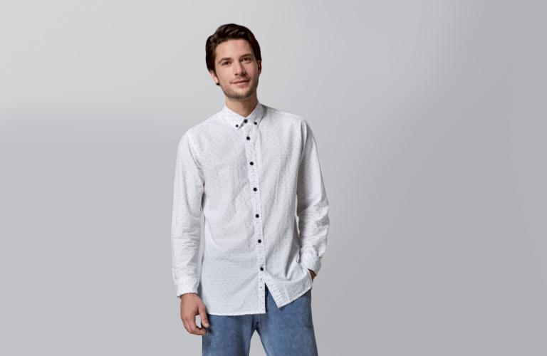 Camisa ML Topitos y pantalón gomas felpa