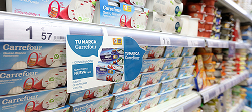 Lineal con productos Carrefour