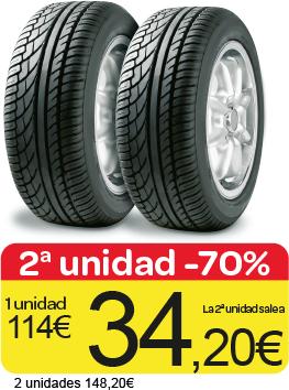 2 neumático al 70% de descuento pirelli y michelin