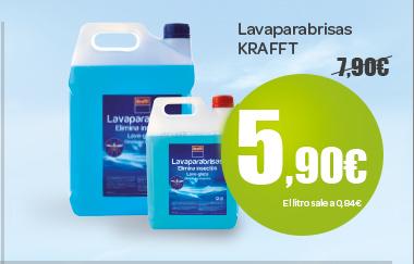 Lavaparabrisas KRAFFT A 5,90 euros, el litro sale a 0,84 euros