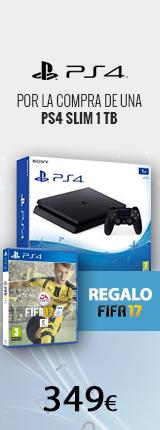 Al comprar una PS4 de regalo Fifa 17