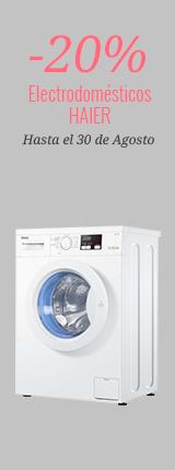 -20% en Electrodomésticos Haier