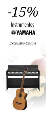 -15% en instrumentos Yamaha
