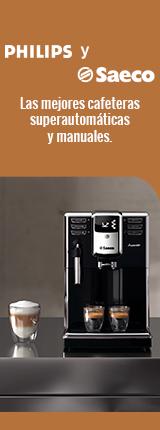 Las mejores cafeteras Superautomáticas y manuales de Philips y Saeco